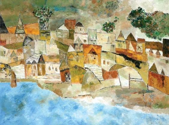 Ram Kumar UNTITLED LANDSCAPE 2 2009 Oil on canvas 36 x 48 in.