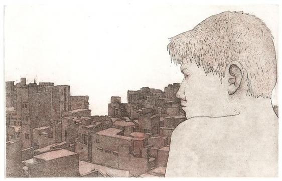 Damon Kowarsky RAWALPINDI I 2008 14 x 22.5 cm.