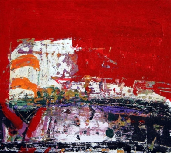 John Tun Sein UNTITLED ABSTRACT 15 2007 Mixed media on paper board 12.5 X 14 in.   SOLD