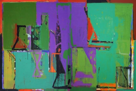 John Tun Sein UNTITLED ABSTRACT 4 (diptych) 2007 Acrylic on Canvas 40 X 80 in.