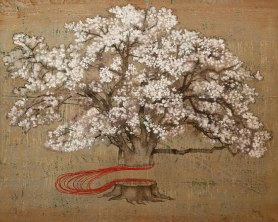 G. R. Iranna Blossoming 2014 Acrylic on tarpaulin 54 x 66 in.