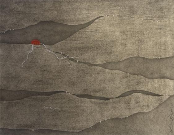 Sumaira Tazeen CHUPPUN CHUPPAI II (HIDE AND SEEK) 2008 Opaque water based pigment on wasli 8.5 x 11 in.
