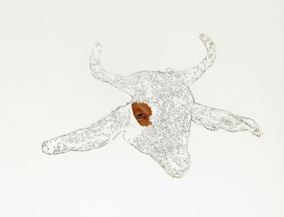 Muhammad Zeeshan SPECIAL 'SIRI' SERIES 13 2011 Gouache and laser score on wasli 26 x 20 in