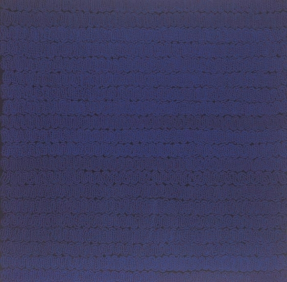 Shobha Broota NOCTURNAL BEAUTY 2006 Wool on canvas 30 x 30 x 1 in.