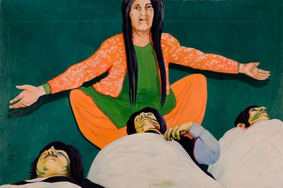 Ijaz ul Hassan ANOTHER MADONNA 2000 Oil on canvas 48 x 72 in.