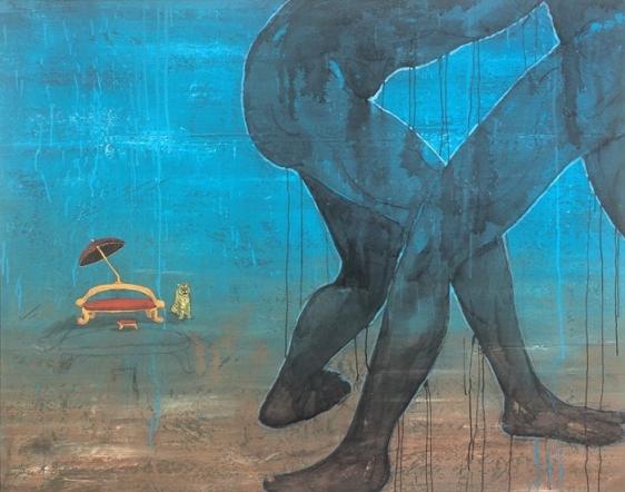 UNTITLED (THE CHAIR) 2007 Acrylic on tarpaulin 52 x 66 in.
