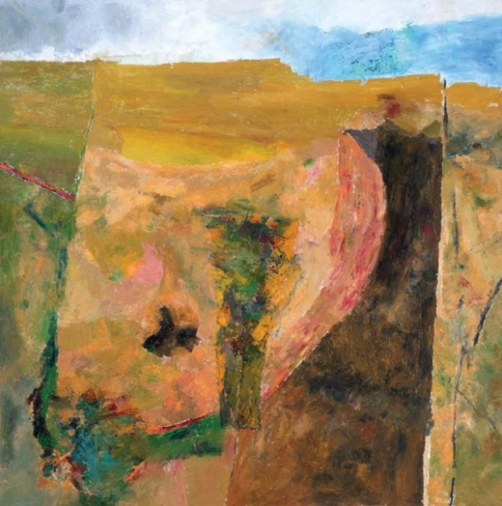 Ram Kumar UNTITLED LANDSCAPE 5 2009 Oil on canvas 36 x 36 in.  NFS