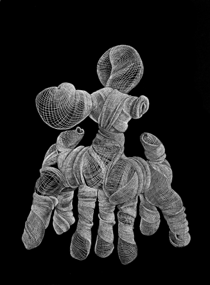 Adeel uz Zafar SEVEN LEGGED FAWN (DRAWING APPENDAGES SERIES) (Ed. of 25) 2013 Etching on Velin Arches 300gsm paper 15.75 x 12 in.