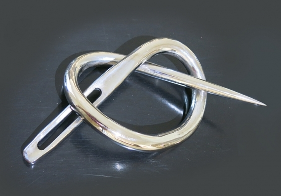 """Roohi Ahmad  Or Knot To Be 4 2015 Chrome plated mild steel  Needle: 32"""""""