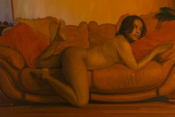 Abir Karmakar IN THE OLD FASHIONED WAY 5 2007 Oil on canvas 72 x 107 in.