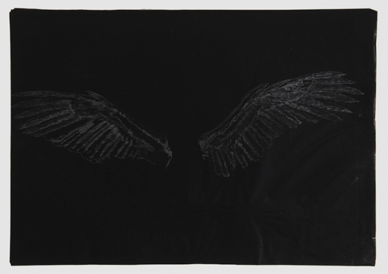 Saad Qureshi UNTITLED (PERSISTENCE OF MEMORY 3) 2013 Carving on carbon paper 15 x 18.5 in.