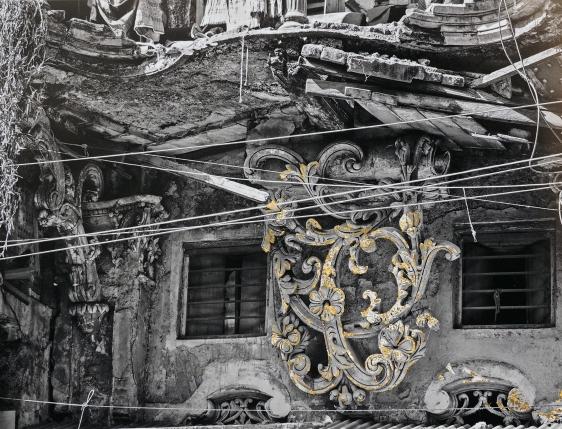 Najmun Nahar Keya   Kintsugi Dhaka (3)  Photograph on archival paper, gold leaf, archival glue  17 x 13 in.  2019