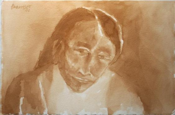 Akbar Padamsee Untitled 16 15 x 22.5 in. Watercolor on paper Estimate - $8,000 - $12,000