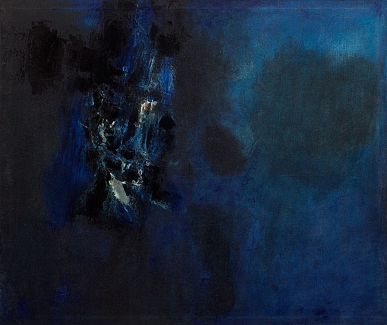 S. H. Raza Reflections 1962 Oil on canvas 29.5 x 35.5 in.