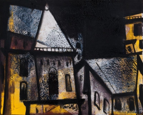 Paresh Maity THE NIGHT WATCH 2015 Oil on canvas 24 x 30 in.