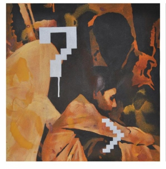 Baiju Parthan PASSAGE 1 (SOFT GRAFFITI SERIES) 2010 Acrylic on paper 22 x 22 in.