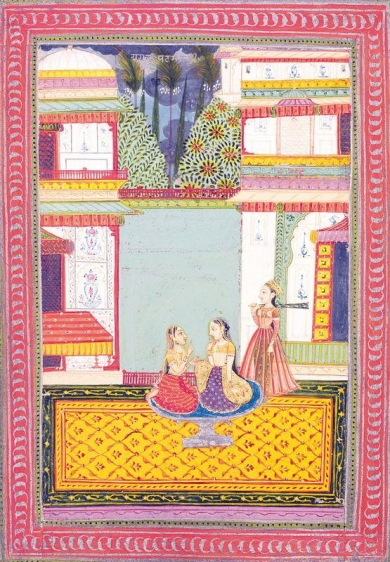 Malsri Ragini India, Bundi Opaque watercolor heightened with gold and silver on paper c. 1760 12.5 x 8.5 in.