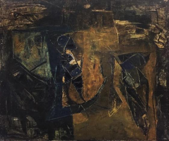 Ram Kumar Untitled 1961 Oil on canvas 20 x 24 in.