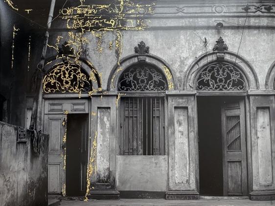 Najmun Nahar Keya   Kintsugi Dhaka (8)  Photograph on archival paper, gold leaf, archival glue  17 x 13 in.  2019