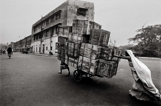 Raghu Rai Woman Cart Pusher, Delhi Edition of 10 1979 Digital scan of photographic negative on archival paper 20 x 30 in.