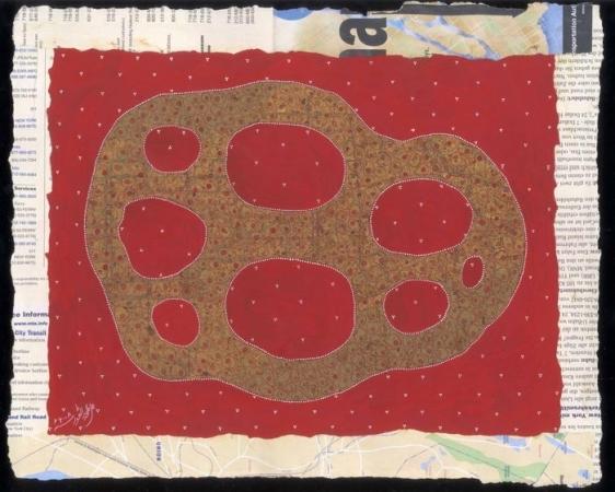 Talha Rathore PURPOSE OF LIFE II 2008 Gouache on wasli 11 x 14 in.