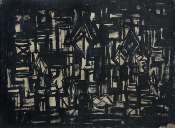 Rasheed Araeen Black Painting 1963 Black ink on paper 22 x 29.5 in.