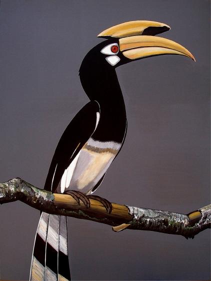 Rajan Krishnan  Pastoral Bird 1  2011 Acrylic on canvas 48 x 36 in.