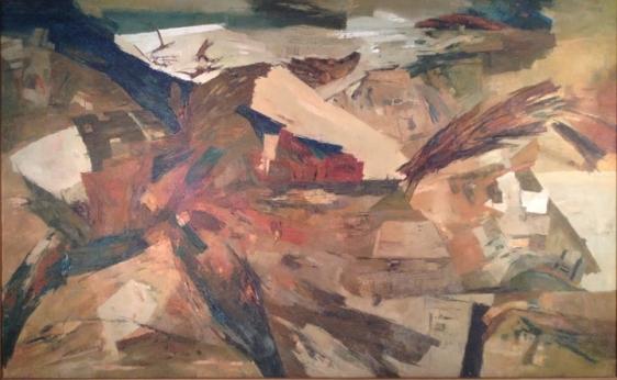 Ram Kumar Untitled (Landscape) 1987 Oil on canvas 33 x 53 in.