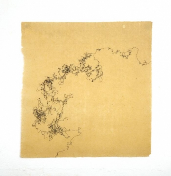Saad Qureshi Untitled 6 Ink on Chinese paper 16.5 x 17 in NFS