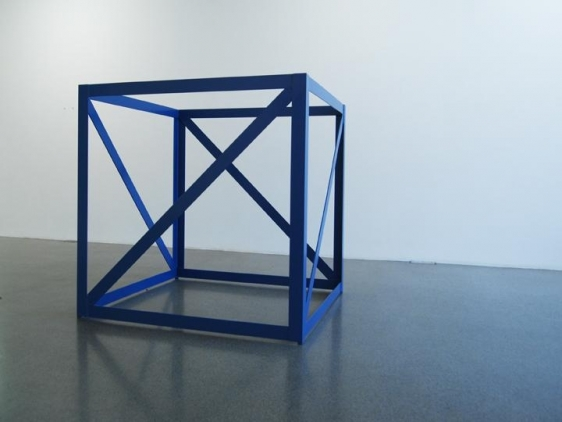 Rasheed Araeen FIRST STRUCTURE 1966-67 Steel and paint 55 x 55 x 55 in