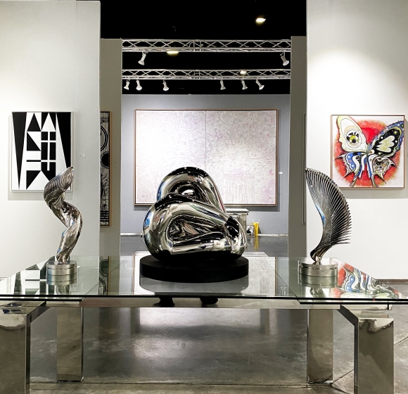 Entrance of Manolis Projects Booth at Art Palm Beach 2020