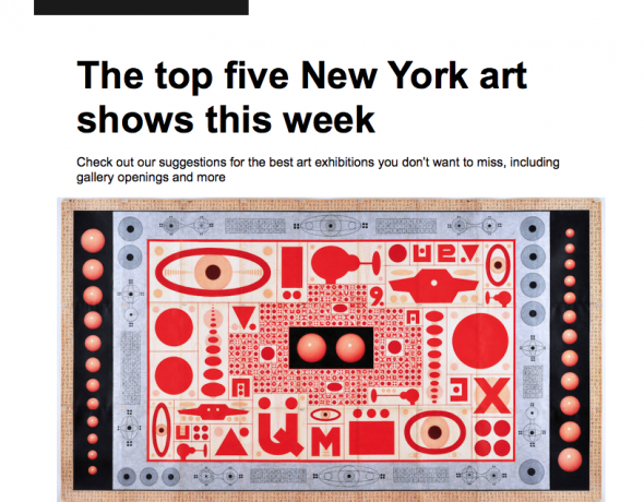 The Top Five New York Art Shows This Week