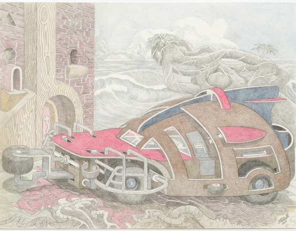William A. Hall: Car Drawings, 2008 - 2017