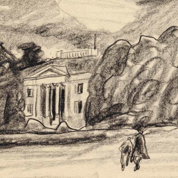 Untitled drawing by Lyonel Feininger