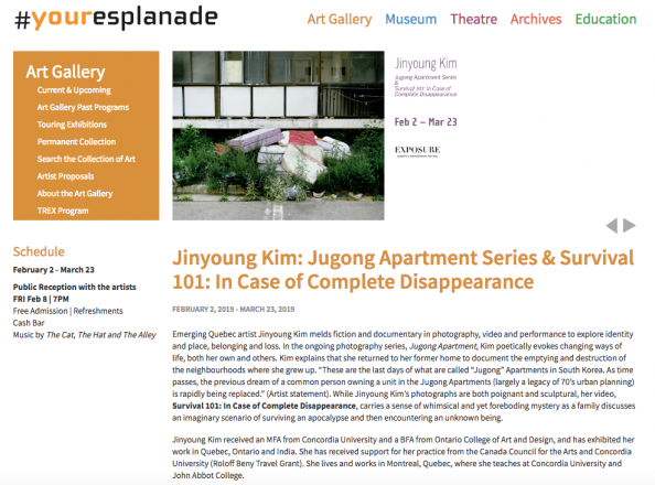 JINYOUNG KIM IN EXPOSURE PHOTOGRAPHY FESTIVAL