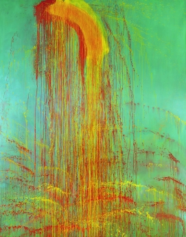 Pat Steir Locks Gallery Middle Lhamo Waterfall