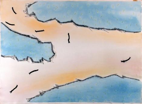 Locks Gallery Ree Morton Drawing Line Series 74