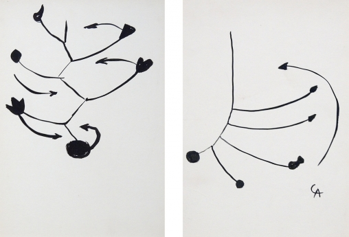 Drawing Locks Gallery Alexander Calder Mobile Composition: A Pair