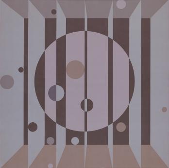 Edna Andrade painting locks gallery