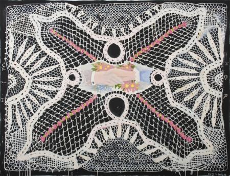 Robert Rahway Zakanitch The Lace Paintings Locks Gallery His/Her/Handshake