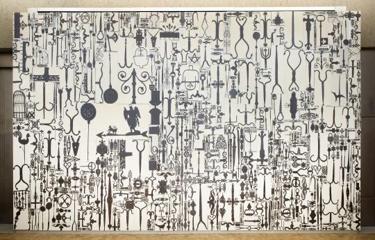 Ellen Harvey Barnes Foundation Metal Painting Locks Gallery