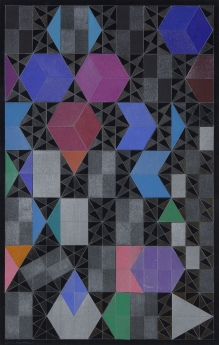 Edna Andrade collage Locks Gallery
