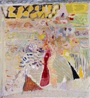 Warren Rohrer locks gallery painting poppy garden