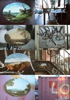 Ellen Harvey NY Beautification installation Locks Gallery