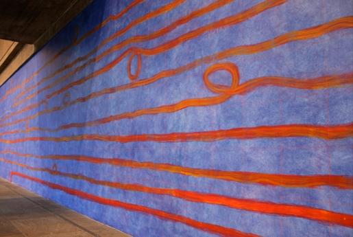 Pat Steir wall drawing Locks Gallery
