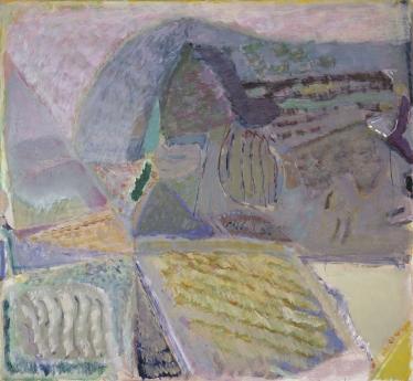 Warren Rohrer locks gallery painting crawling landscape