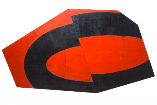 David Row Locks Gallery Shape Paintings