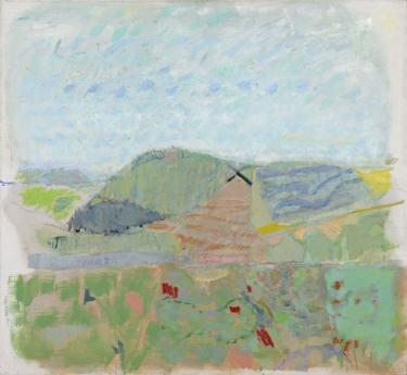 Warren Rohrer locks gallery painting farm: april two