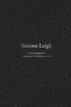 Simone Leigh, Luhring Augustine book, 2019