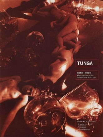 Tunga, exhibition poster, January 26 – March 2, 2002